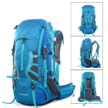 Blue 55L hiking backpack