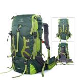 green 55L hiking backpack
