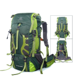 green 55L hiking backpack